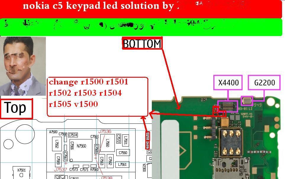 Nokia c5-00 Keypad Light Problem Ways Jumper Solution