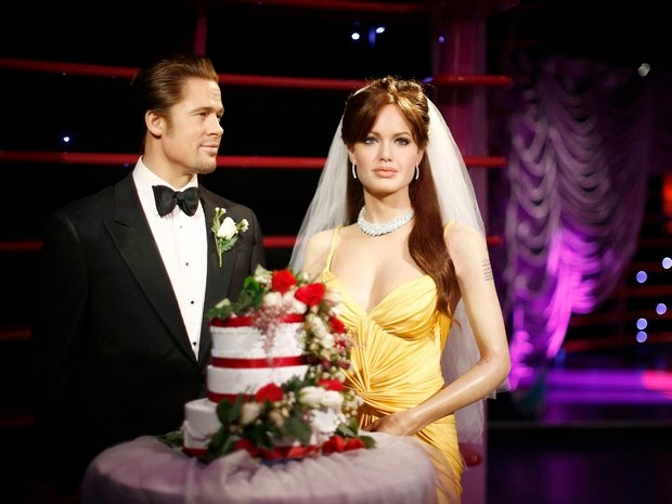 Brad Pitt and Angelina Jolie, who married, earning replicas in wax