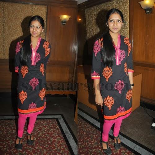 Lakshmi Menon Painted Salwar