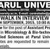 Parul University Assistant Professor Recruitment 2015