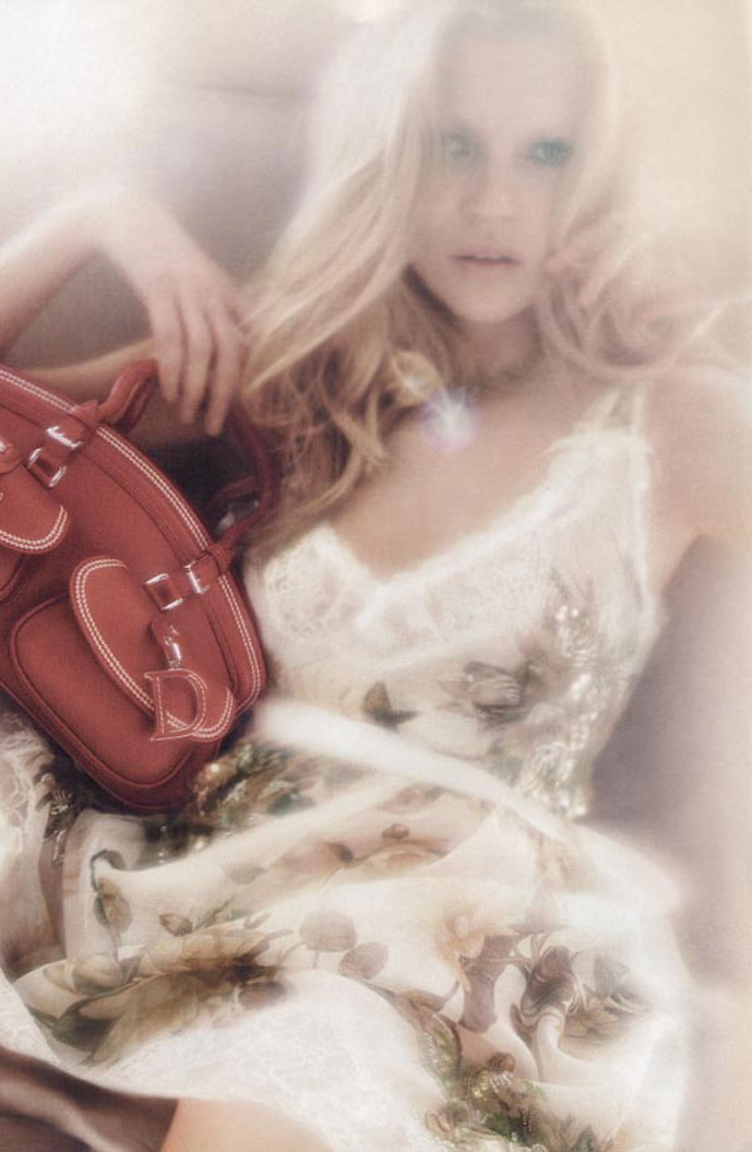 Kate Moss in Christian Dior Spring/Summer 2005 campaign (photography: Nick Knight)
