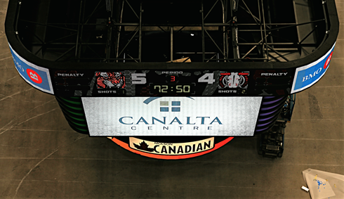 canalta centre score clock