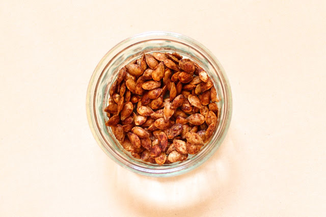 toasted butternut squash seeds