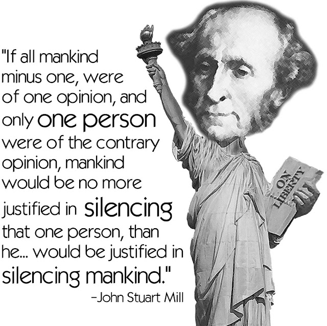 John Stuart Mill, freedom of speech,right