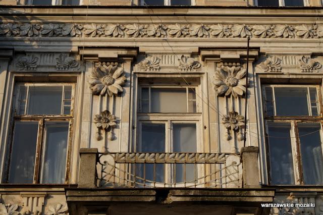 Warszawa kamienica Górnośląska 22 pawie secesja opuszczona