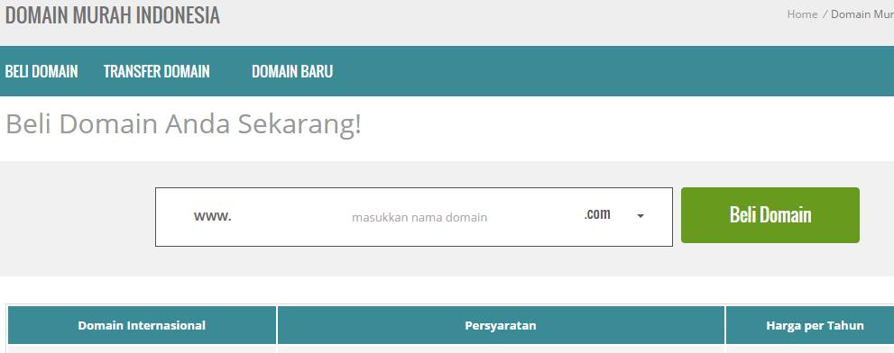 cara mendaftar domain murah dan mudah Niagahoster