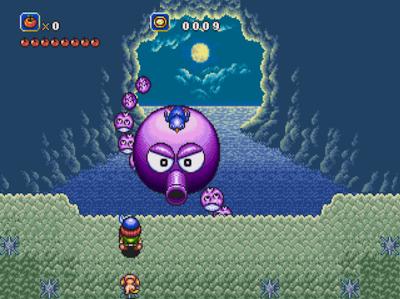 La pieuvre géante, un boss de Soleil sur Megadrive