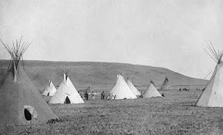 Atsina Camp Scene Edward S Curtis