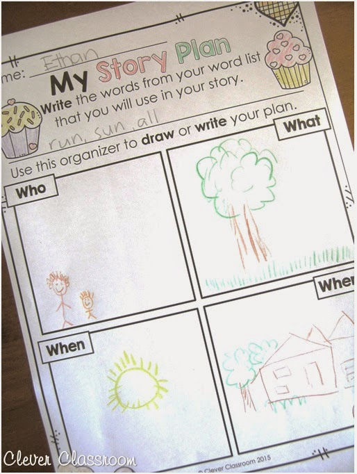 Story plan from Valentine's Day Printable for any Word List