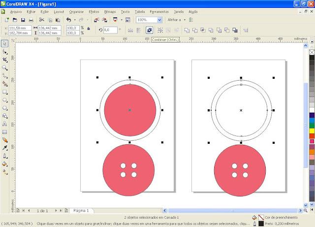 Tutorial no Corel Drawn - Aprendendo a Fazer Butões