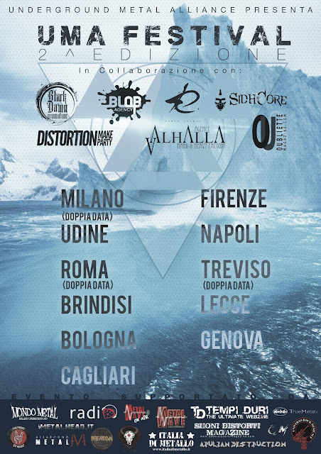 La locandina del festival itinerante dedicato al rock/metal underground italiano