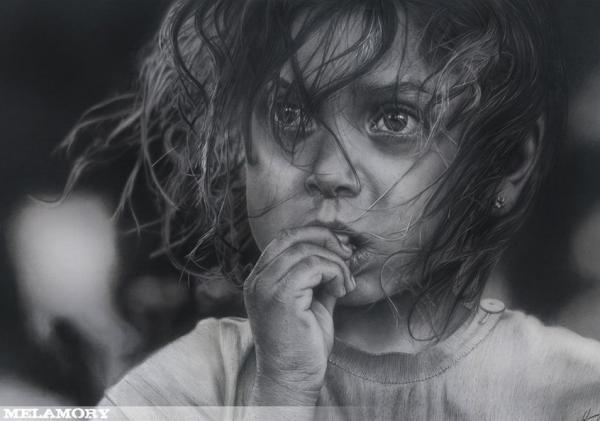 Olga Melamory Larionova. Pencils