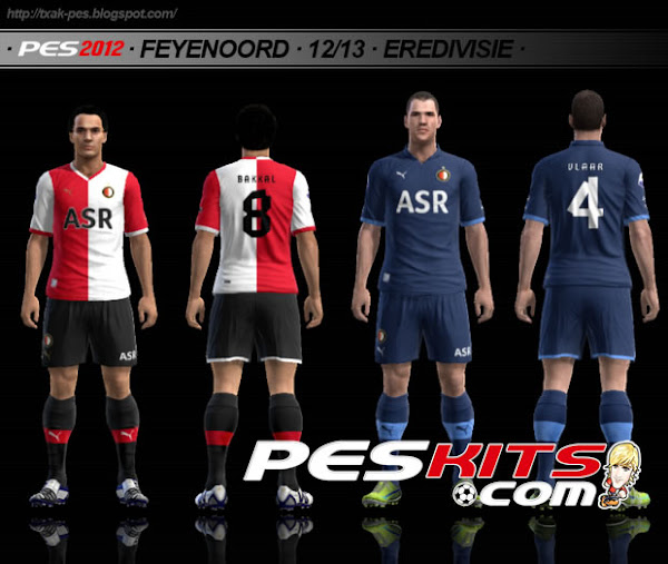 PES 2012 Feyenoord 2012/13 Kits by Txak