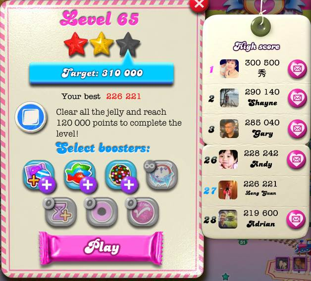 Candy Crush Saga - Walkthrough by Leng Guan Ho