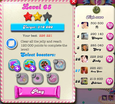 Candy Crush Saga - Walkthrough by Leng Guan Ho: Candy Crush Saga Level
