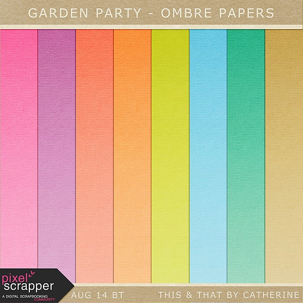 "Free scrapbook ""Garden Party"" from This & That"