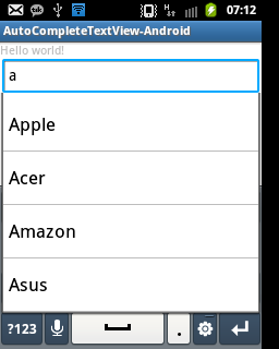 Membuat Aplikasi Menggunakan AutoCompleteTextView pada Android