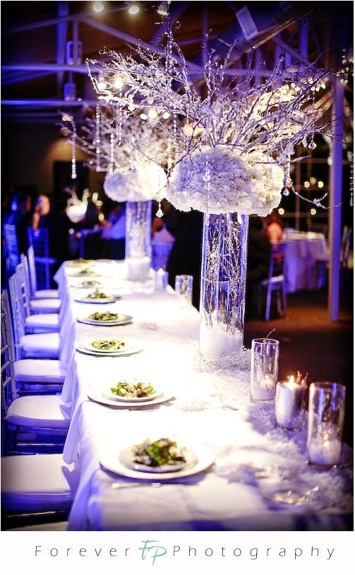 royal blue silver white wedding decorations |http://weddingstopic ...