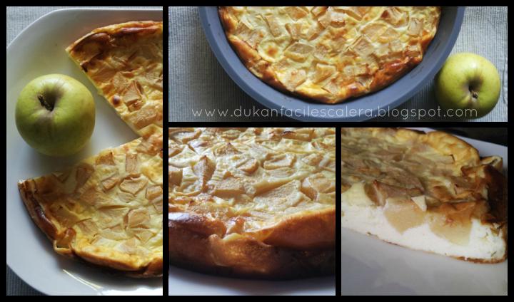 Tarta de queso y manzana light para dieta sin azúcar al horno y facilísimo