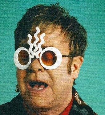 elton john glasses. In this photo: Sir Elton John