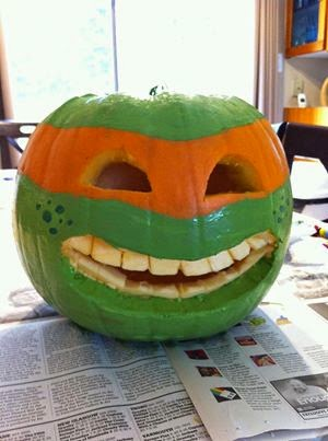 Green TMNT Ninja Turtles Pumpkin