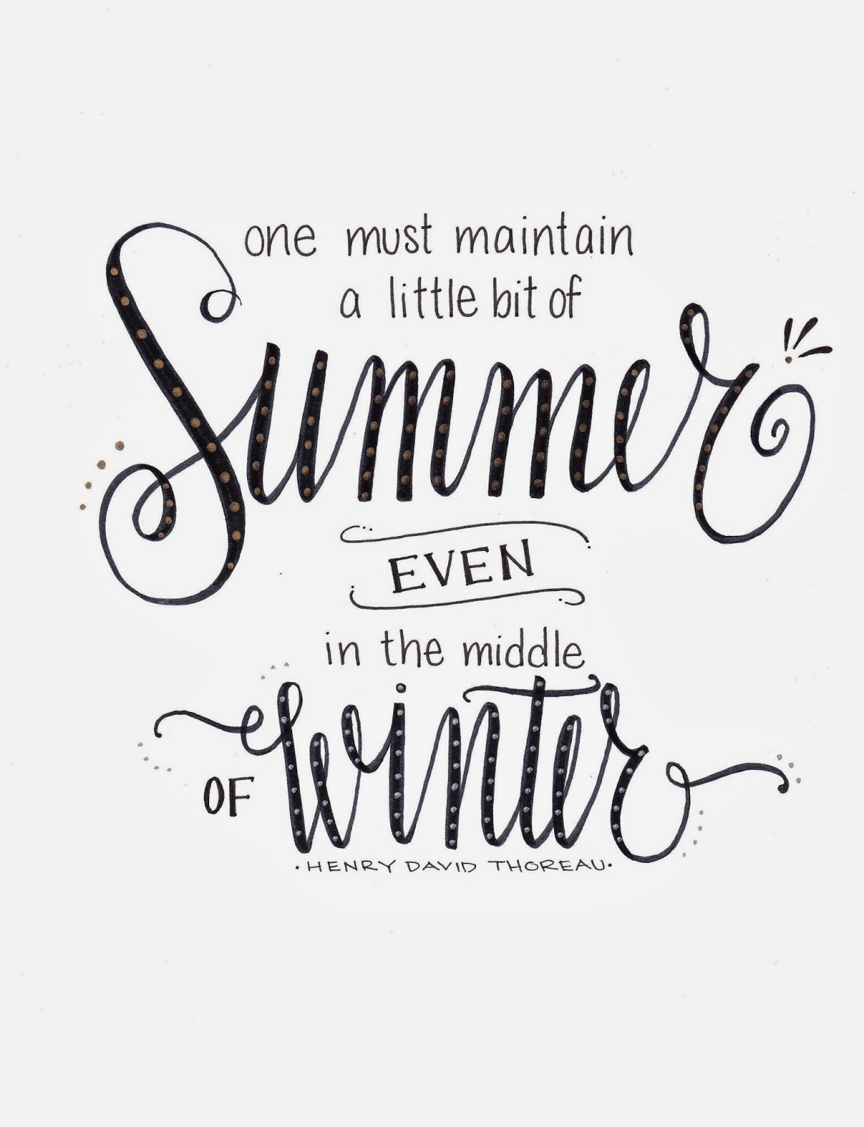 Lettering Lately...A little bit of summer