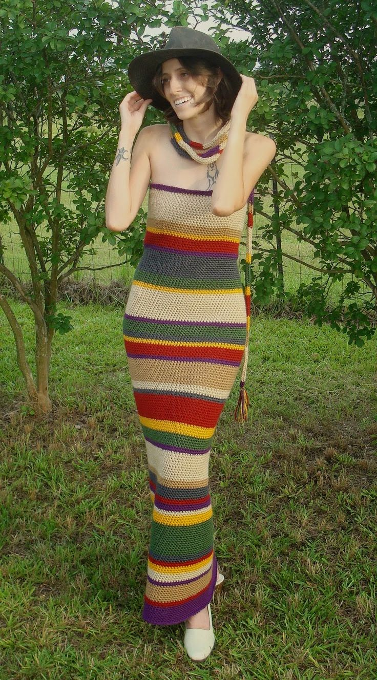 Knitting Pattern Fourth Doctor Scarf : Hello, Im the Doctor: 4th Doctor Scarf Dress