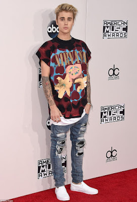 red carpet American Music awards 2015 justin bieber