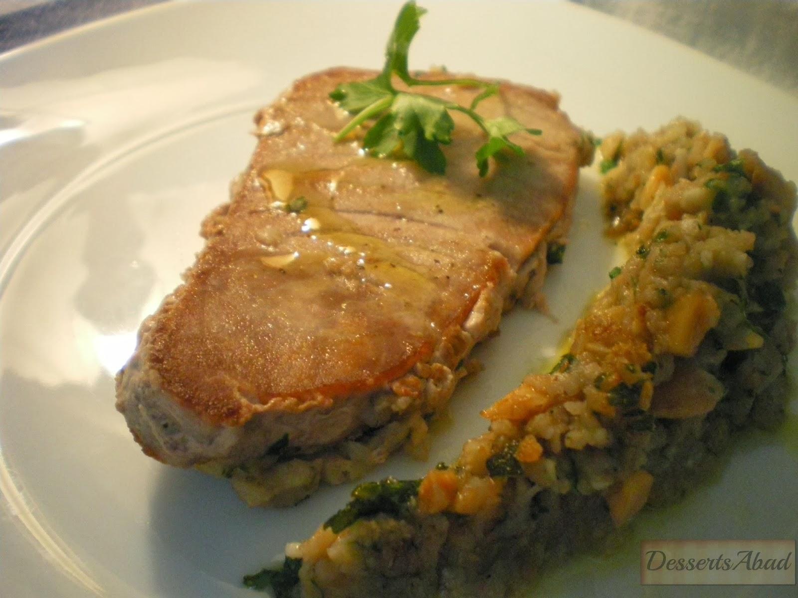 Dessertsabad at n o pez espada al pesto de almendras for Pez espada en salsa de almendras