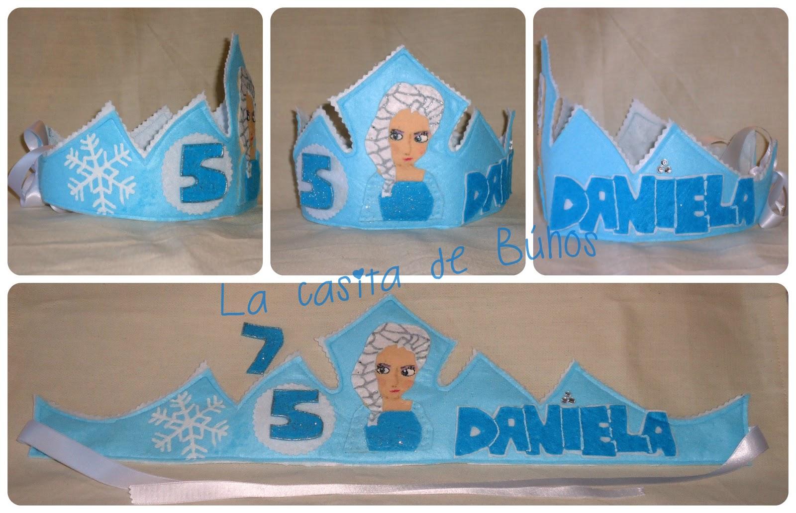 Corona cumpleaños en fieltro de Frozen - Birthday felt crown Frozen