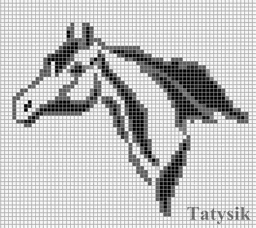 Схема плетения лошади из