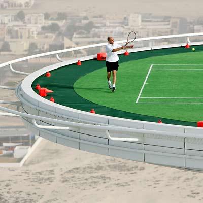 Curious Wallpapers Burj Dubai Tennis Court