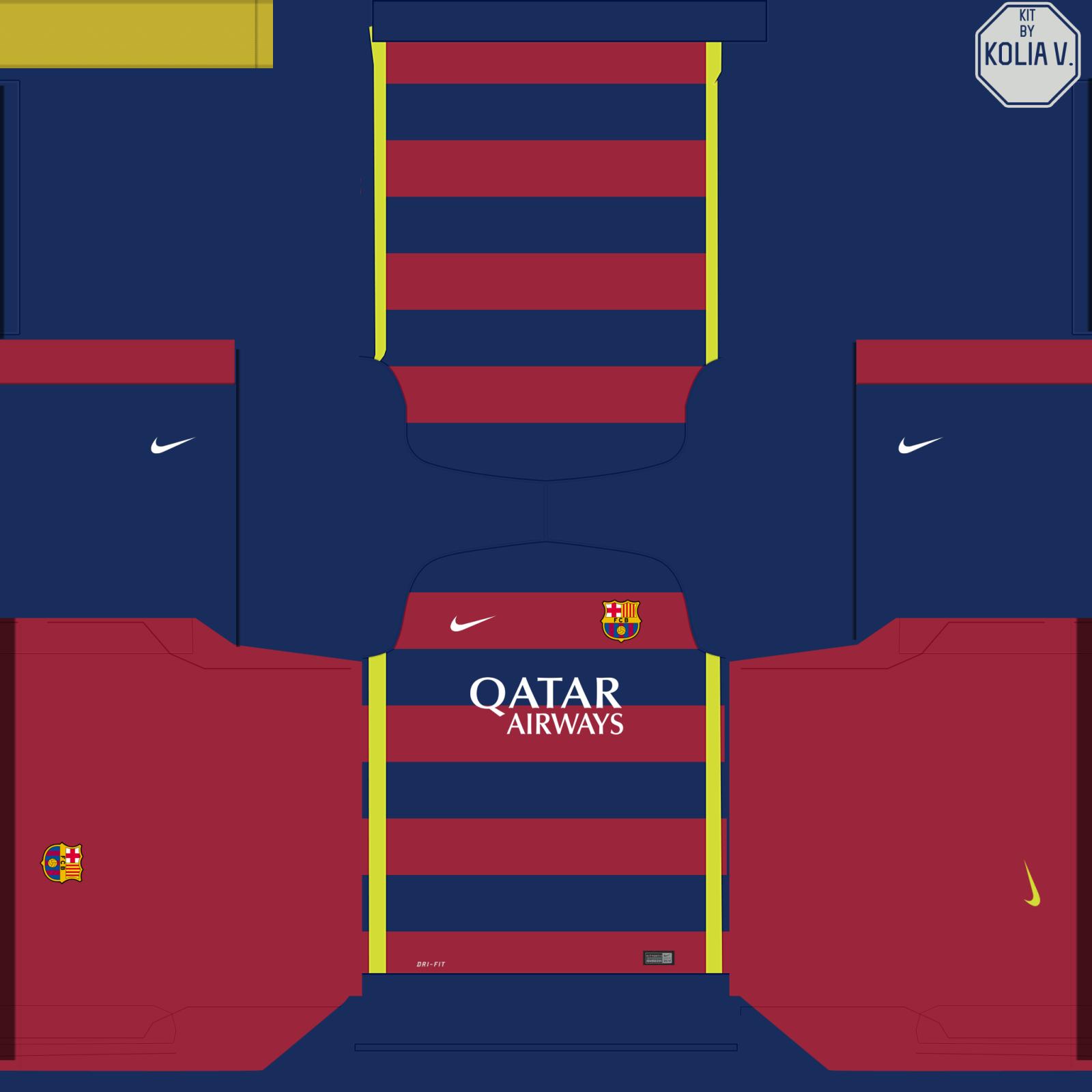 PES 2015 Kit Home Barcelona 2015 16 JVPES e FIFA O melhor para