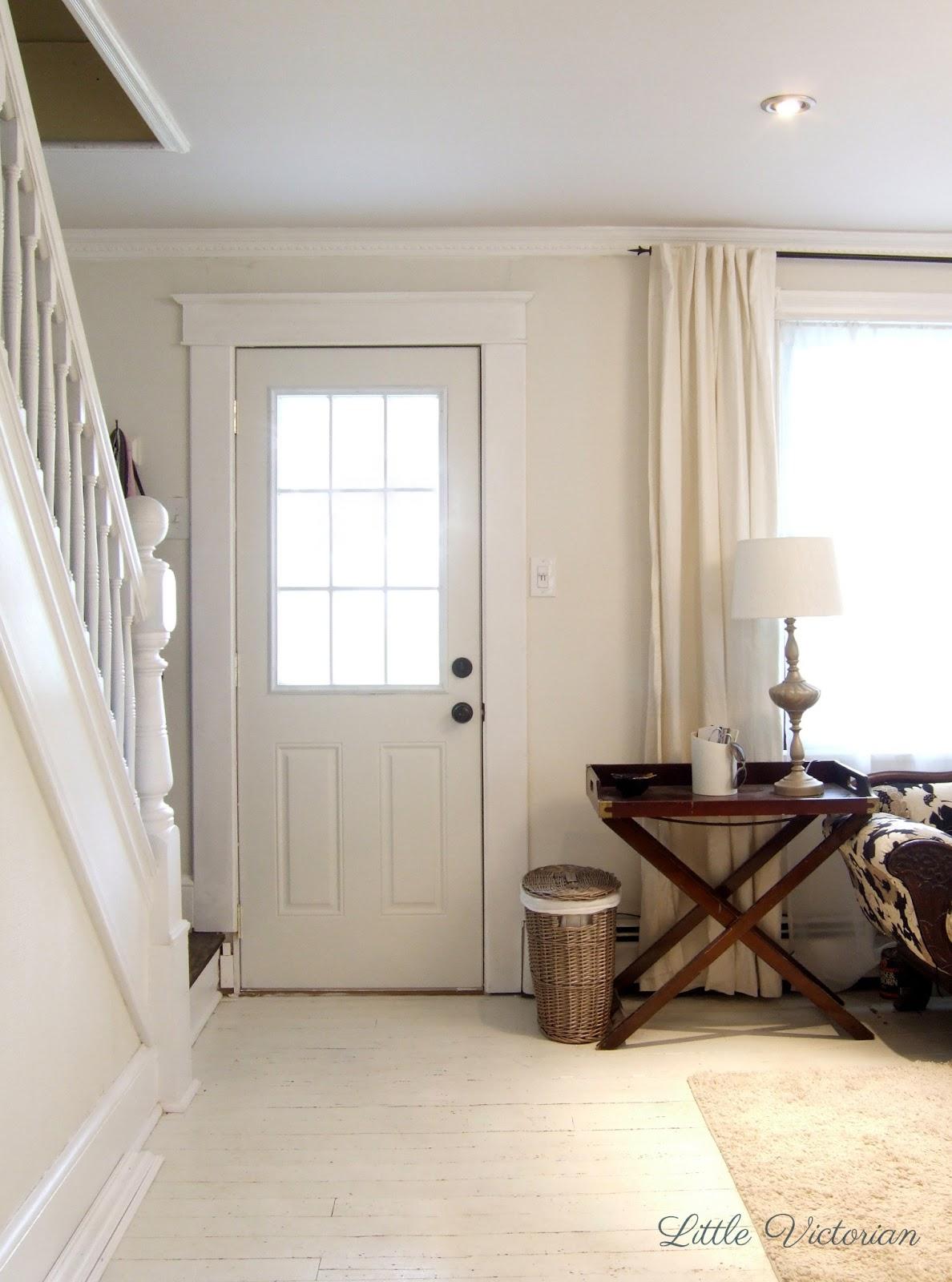Front door in living room | Little Victorian