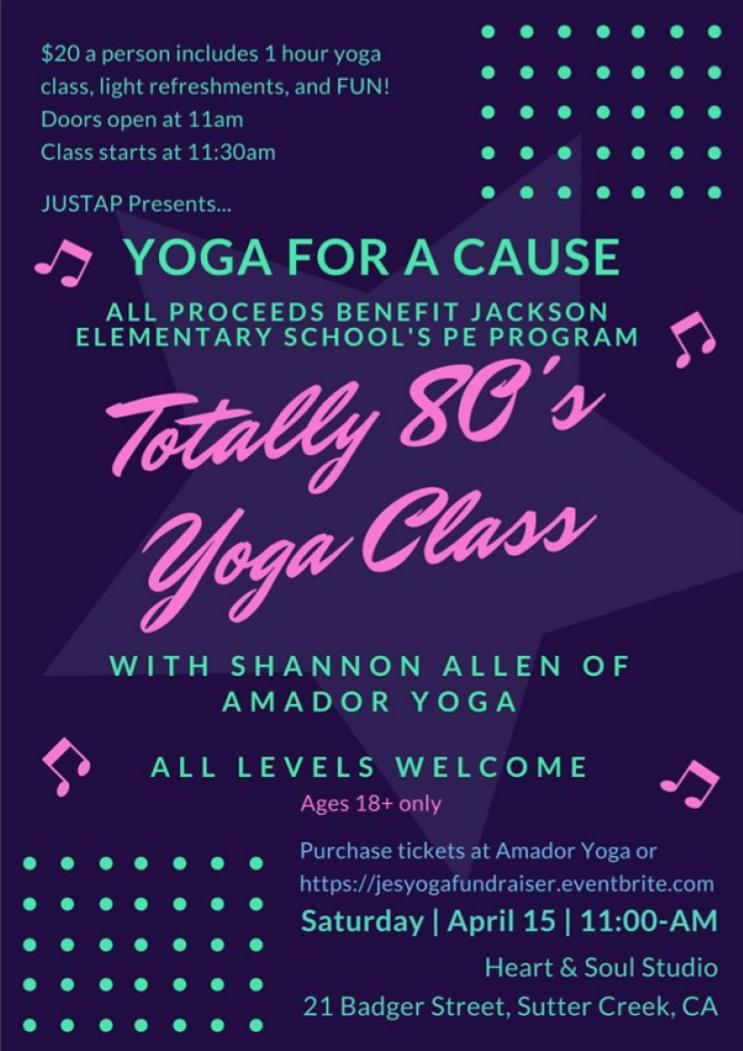 Yoga for a Cause: Totally 80's Yoga Class - Sat Apr 15