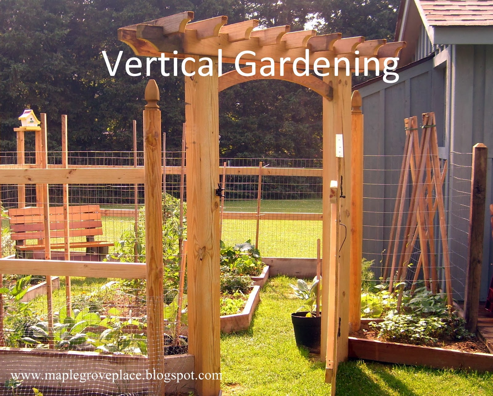 Vertical Garden Design With Gazebo Installation I was sold on the idea. I wanted to have a square foot garden and  incorporate vertical gardening into the spaces. Using good old-fashioned  graph paper, ...