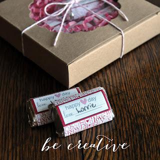 mini chocolate favors tutorial on Creative Bag's blog