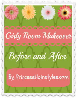 Girl room before and after princesshairstyles.com
