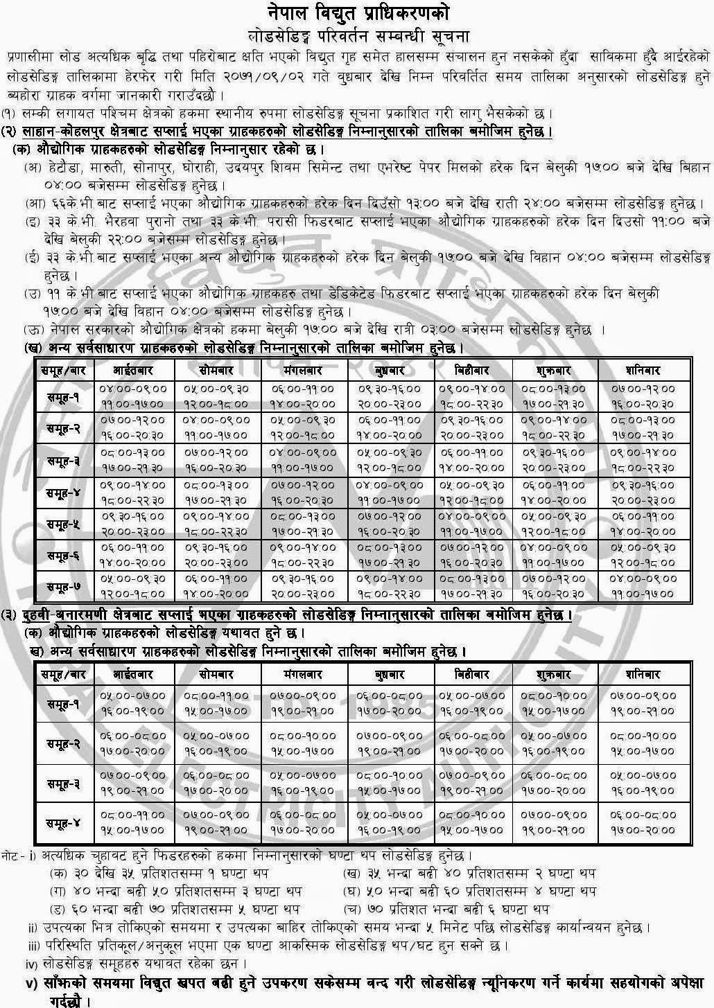 New-Load-Shedding-Schedule
