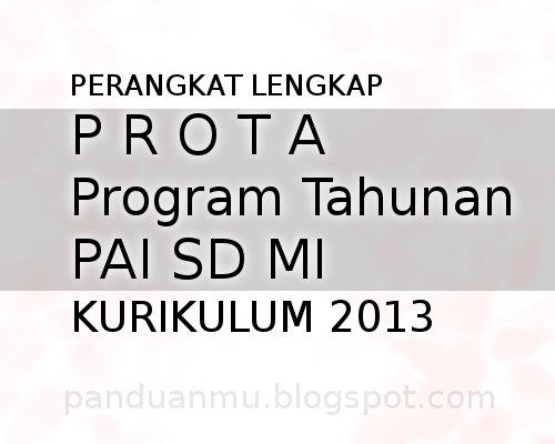 prota PAI kurikulu 2013