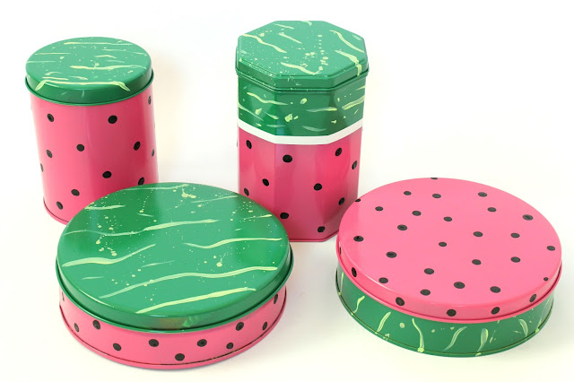 Watermelon Canisters from Mom's Crafty Space
