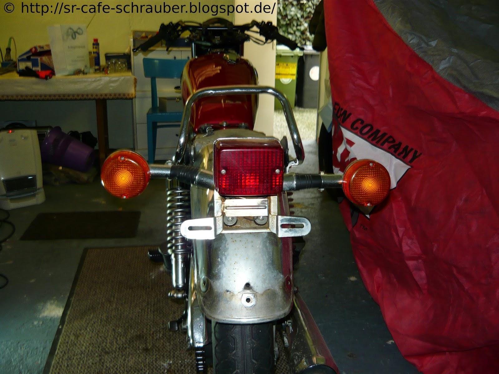 SR Cafe Schrauber: Demontage hinterer Kotflügel