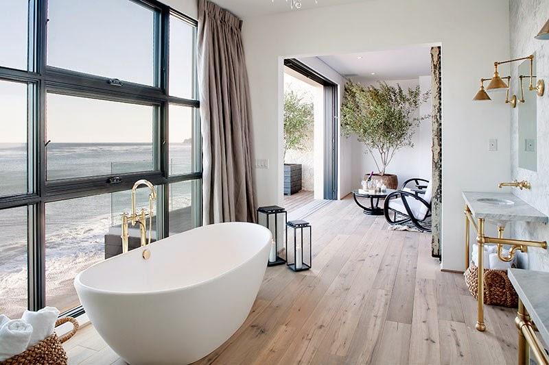 Cococozy malibu beach house for under 10 million dollars for Beach house master bathroom