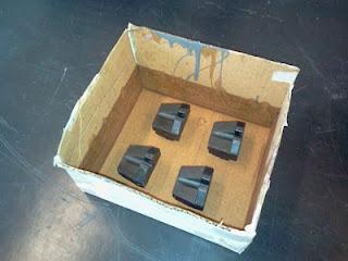 preparação do molde de silicone