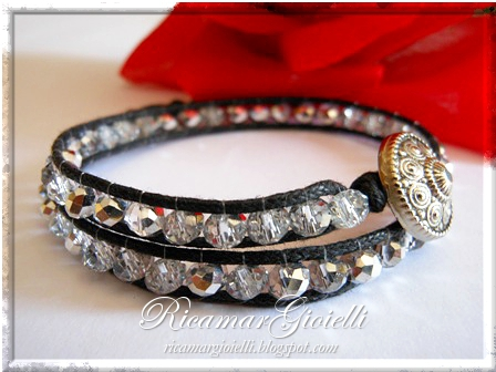 Chan Luu Wrap Bracelet realizzato con rondelle e cotone cerato