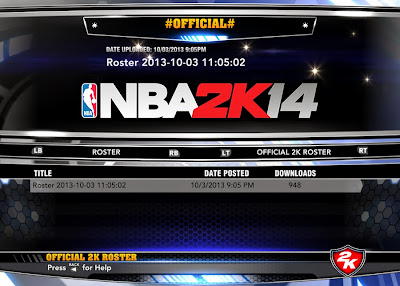 NBA 2K14 Roster Update (10-3-2013)