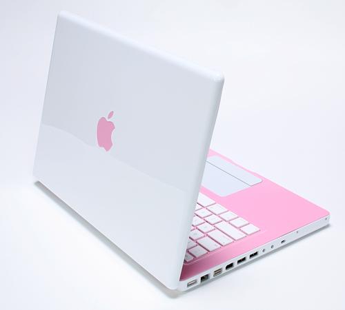 Pink Apple Laptop