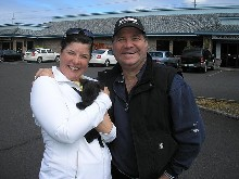 Tina & Lars Larson with one of their pups