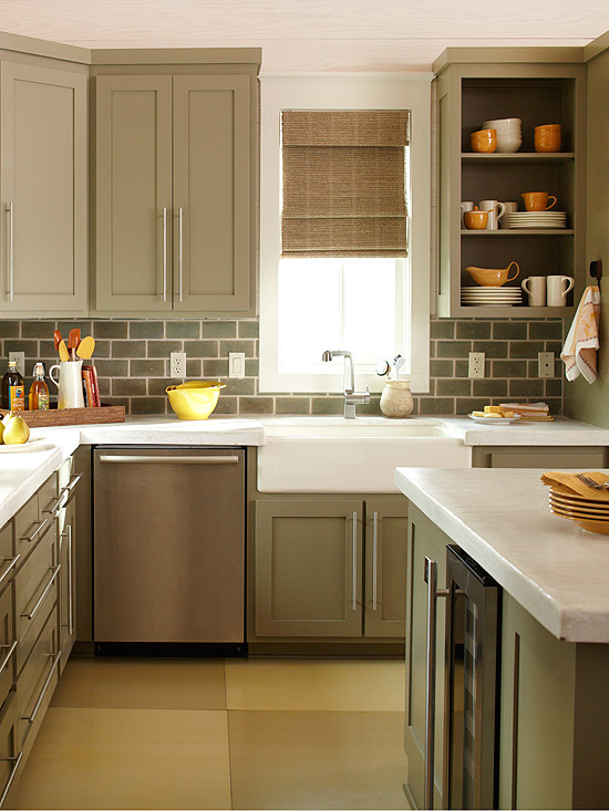 Trik membuat dapur mungil terlihat luas rumah ide for Color ideas for a small kitchen