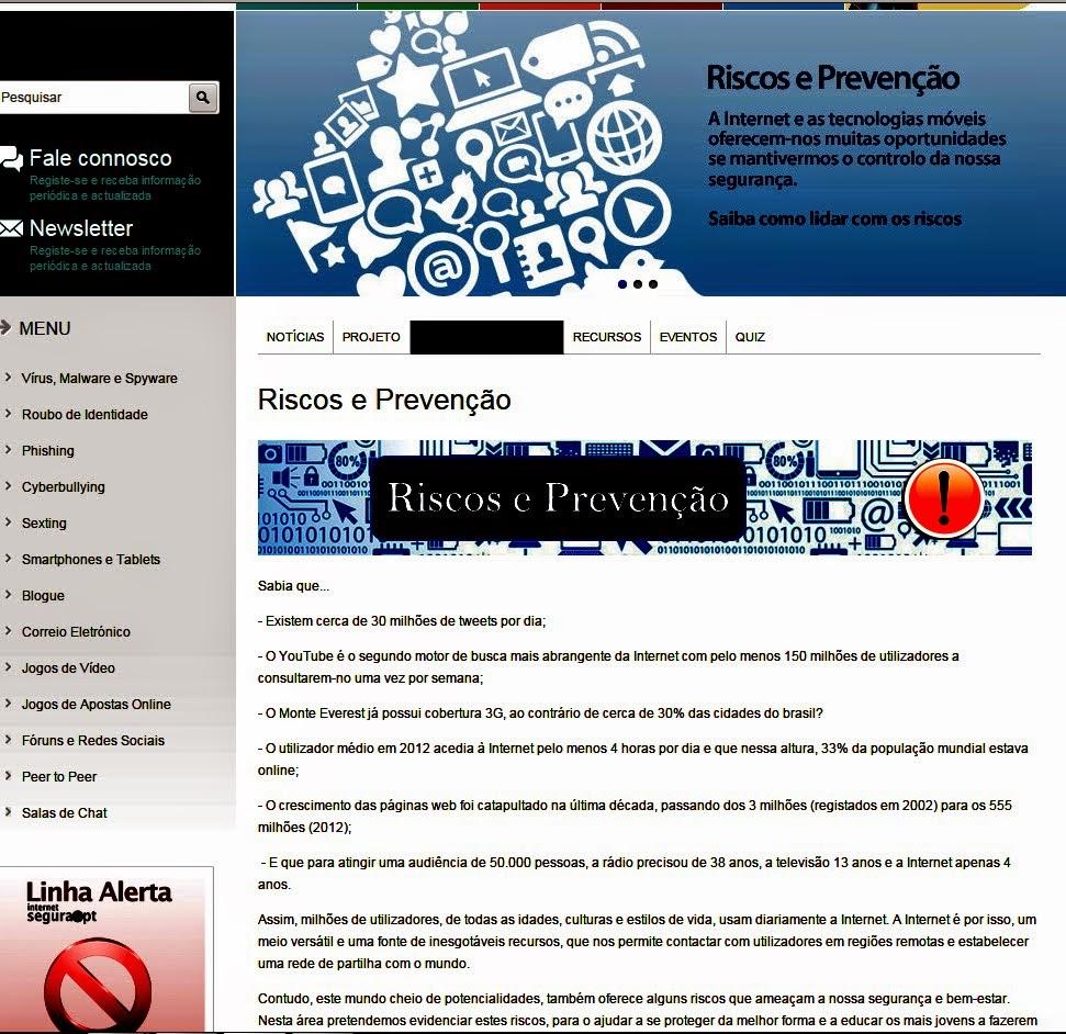 Internet Segura Riscos e Prevenção